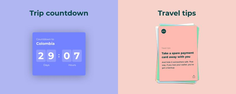 Trip countdown and travel tips