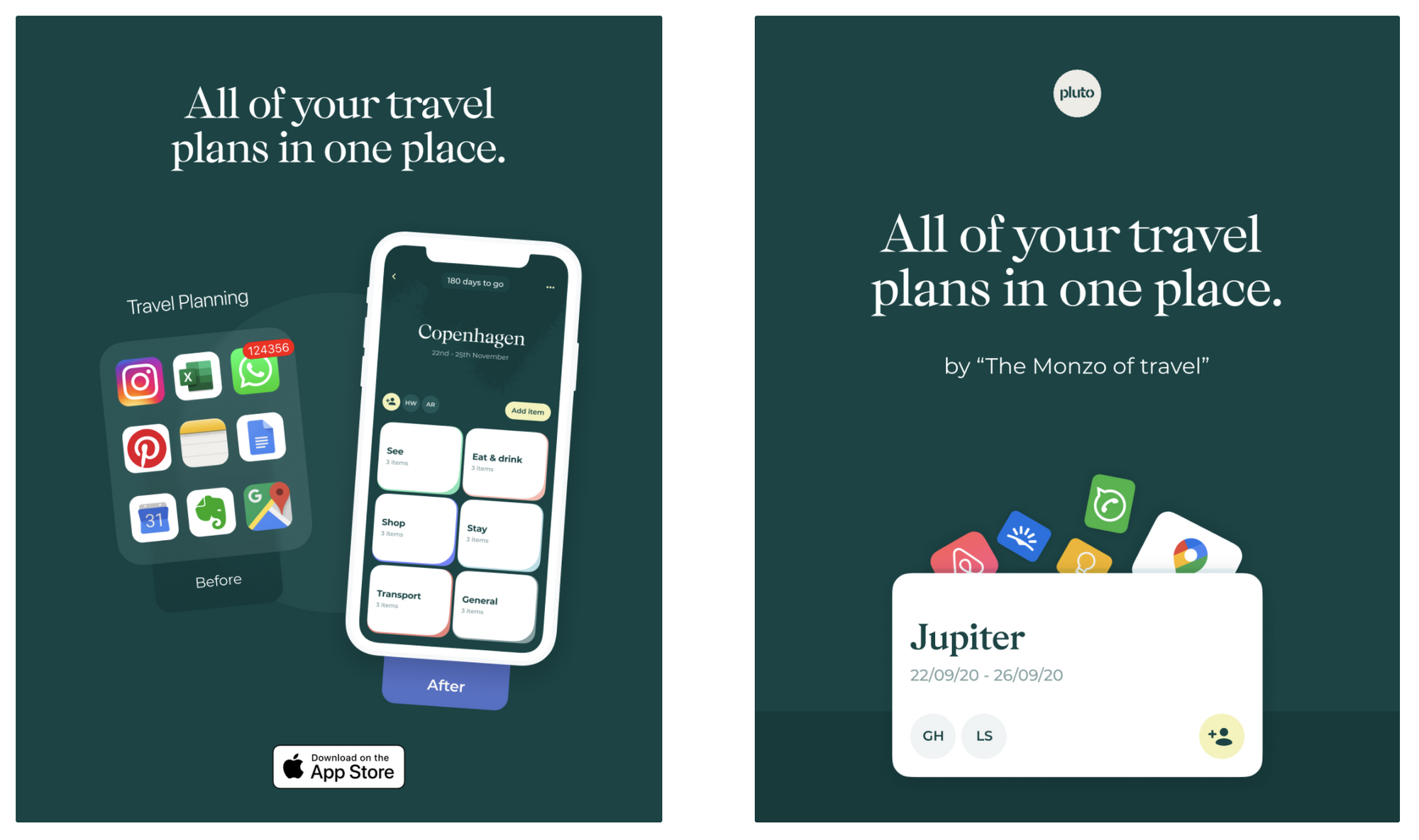 Pluto paid ad examples