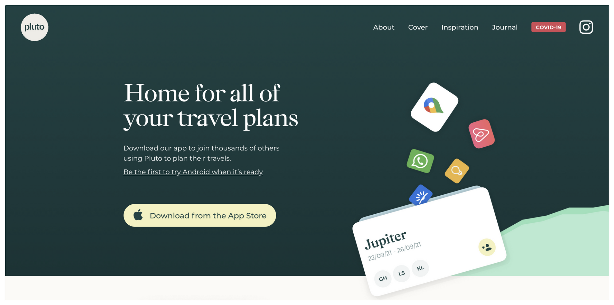 Refined landing page